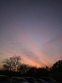 きれいな夕焼けです